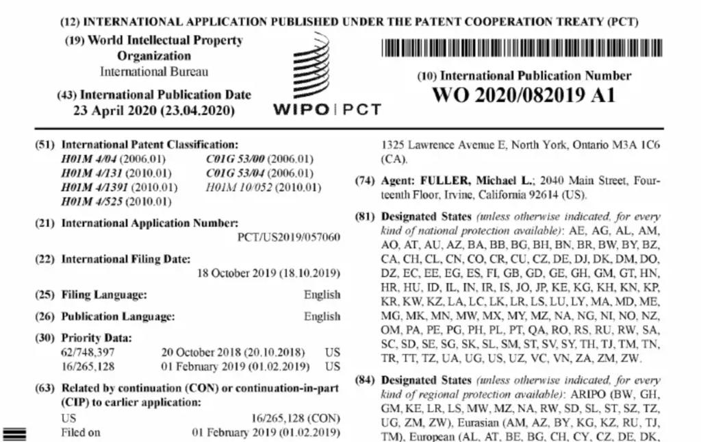 WIPO-PCT. Tesla's neue Patentanmeldung